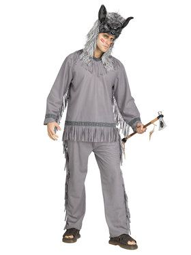 Wolf Warrior Indian Men's Costume