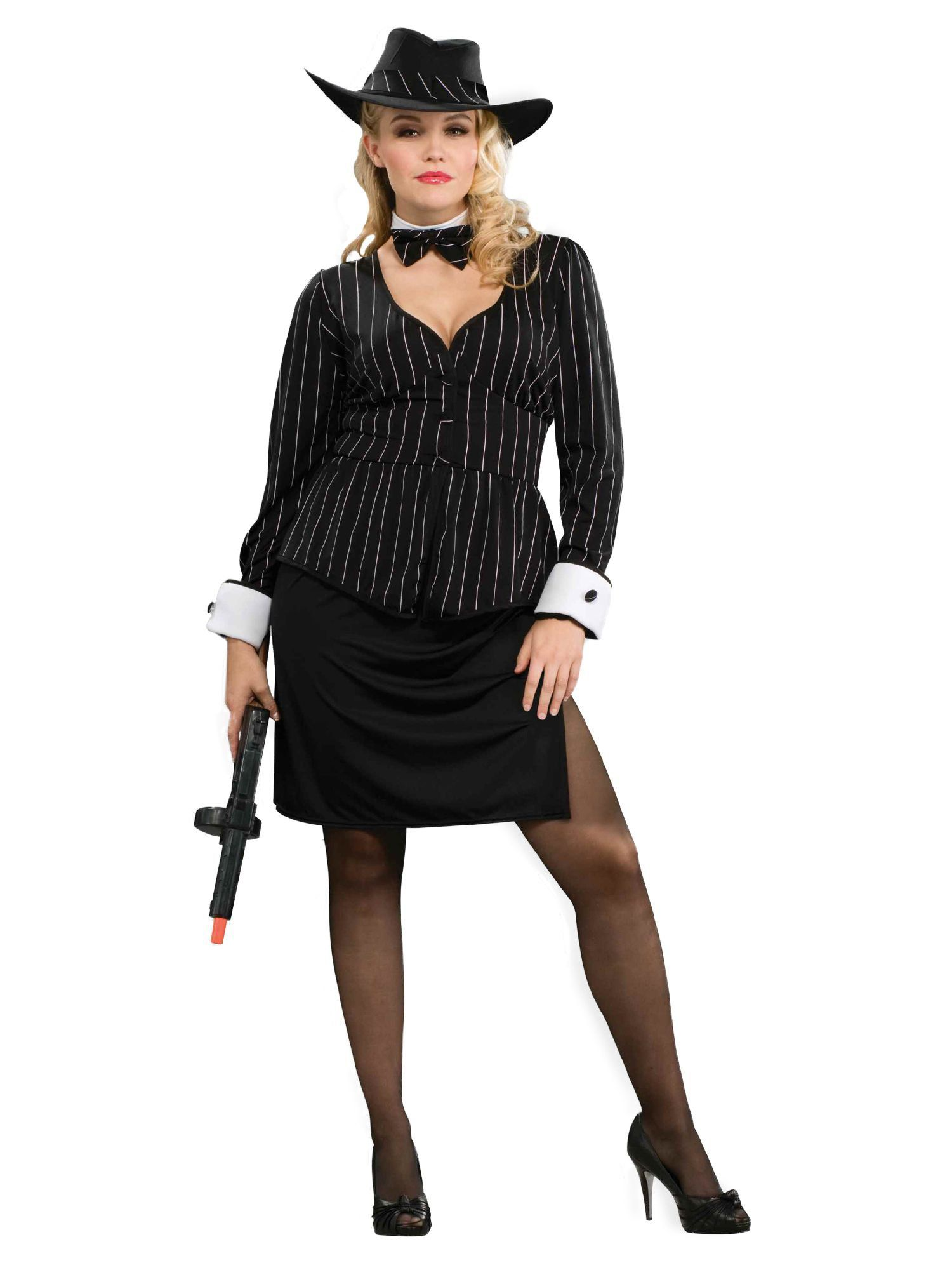 womens plus size gangster costume - womens costumes for 2018