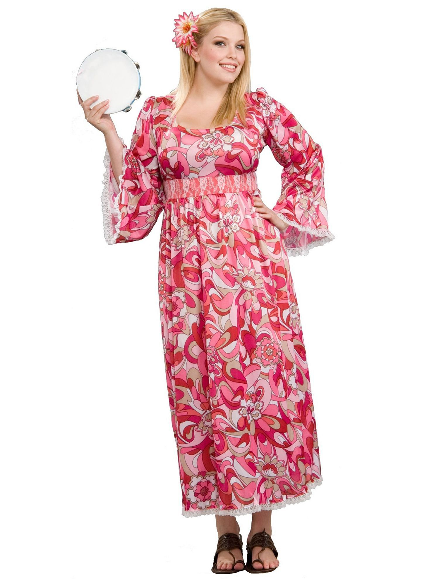 Womans Plus Size Hippie Flower Child Costume  sc 1 st  Wholesale Halloween Costumes & Hippie Flower Child Costume - Wholesale 70s Adult Costumes