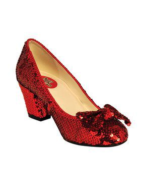 "2 1/2"" Sequin Pump with Toe Bow"