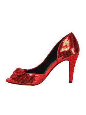 "4"" Red Sequin Cut-Out Heel"