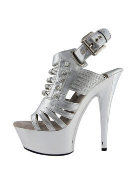 "6"" Open Toe Strappy Knotted Platform"