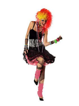 Womens 80s Party Girl Costume