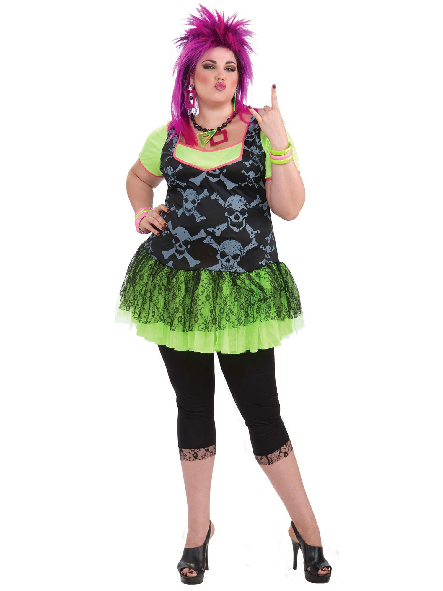 Womens 80\'s Punk Plus Size Costume - Womens Costumes for ...
