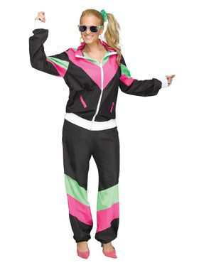 Womens 80's Track Suit Costume