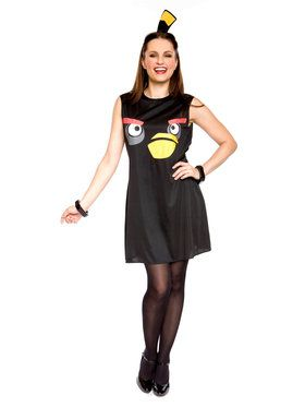 Women's Adult Angry Birds Sassy Black Bird Costume