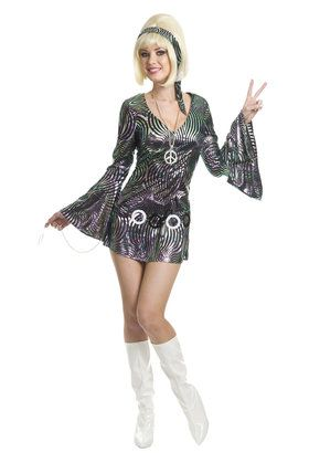Womens Adult Plus Disco Diva Costume