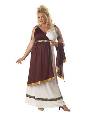 Women's Adult Plus Roman Empress Costume