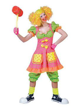Women's Adult Pokey Dot Clown Costume