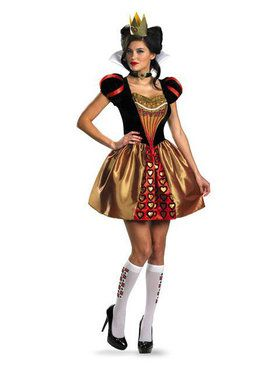 Womens Alice In Wonderland Movie Red Queen Costume