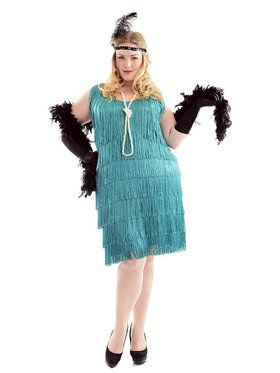 Plus Women's Fashionable Flapper Costume