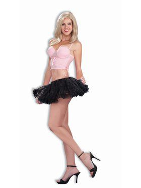 "Black 10"" Petticoat for Women"