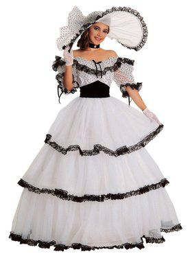 Womens Black And White Southern Belle Costume  sc 1 st  Wholesale Halloween Costumes & Adult Blossom Southern Belle Womens Costume - Womens Costumes for ...