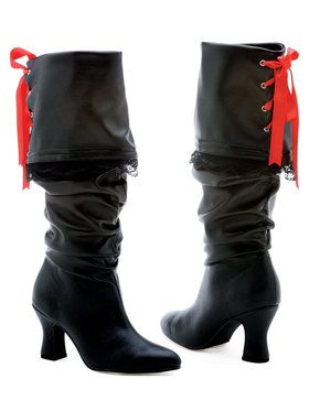 Women's Black Pirate Boots