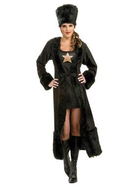 Womens Black Russian Costume