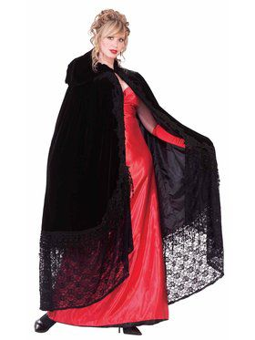 Womens Black Victorian Cape