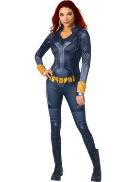 Women's Black Widow Movie Black Widow Deluxe Costume (Black Suit)