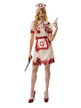Bloody Nurse Costume for Women