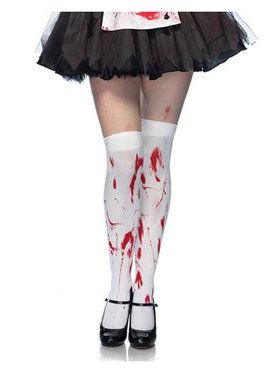Women's Bloody Zombie Thigh Highs