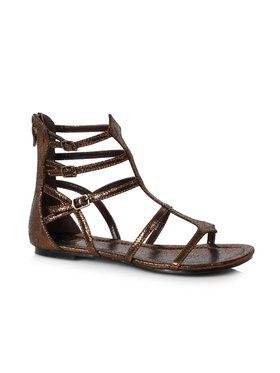 Womens Bronze Gladiator Style Sandals