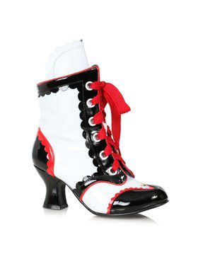 Womens Harlequinn Clown Bootie