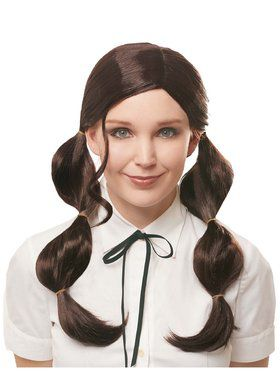 Brunette Bubble Pigtail Wig