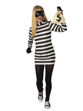 Ladies Bank Robber Burglar Costume