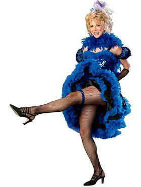 Womens Cancan Girl Blue Costume