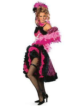 Womens Cancan Girl Pink Costume
