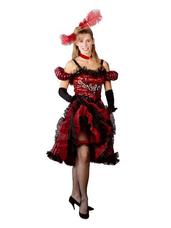 womens cancan girl red costume - Can Can Dancer Halloween Costume