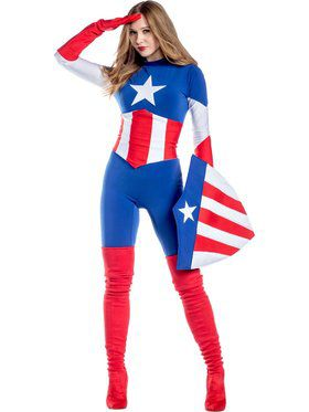 Captain America Women's Costume