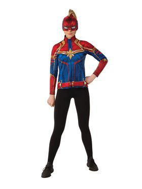 Captain Marvel Hero Suit Top Costume