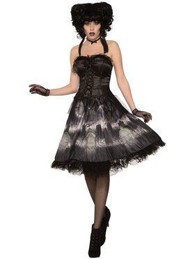 Gothic Cemetery Doll Dress For Women