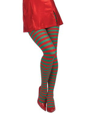 Women's Christmas Striped Tights
