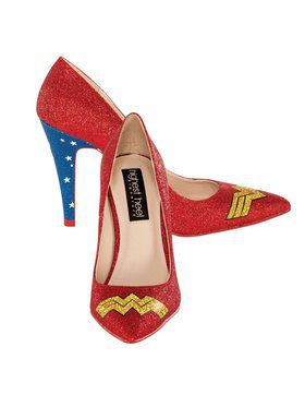 Wonder Woman Glitter Pump