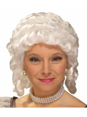 Colonial Wig (White) For Adults