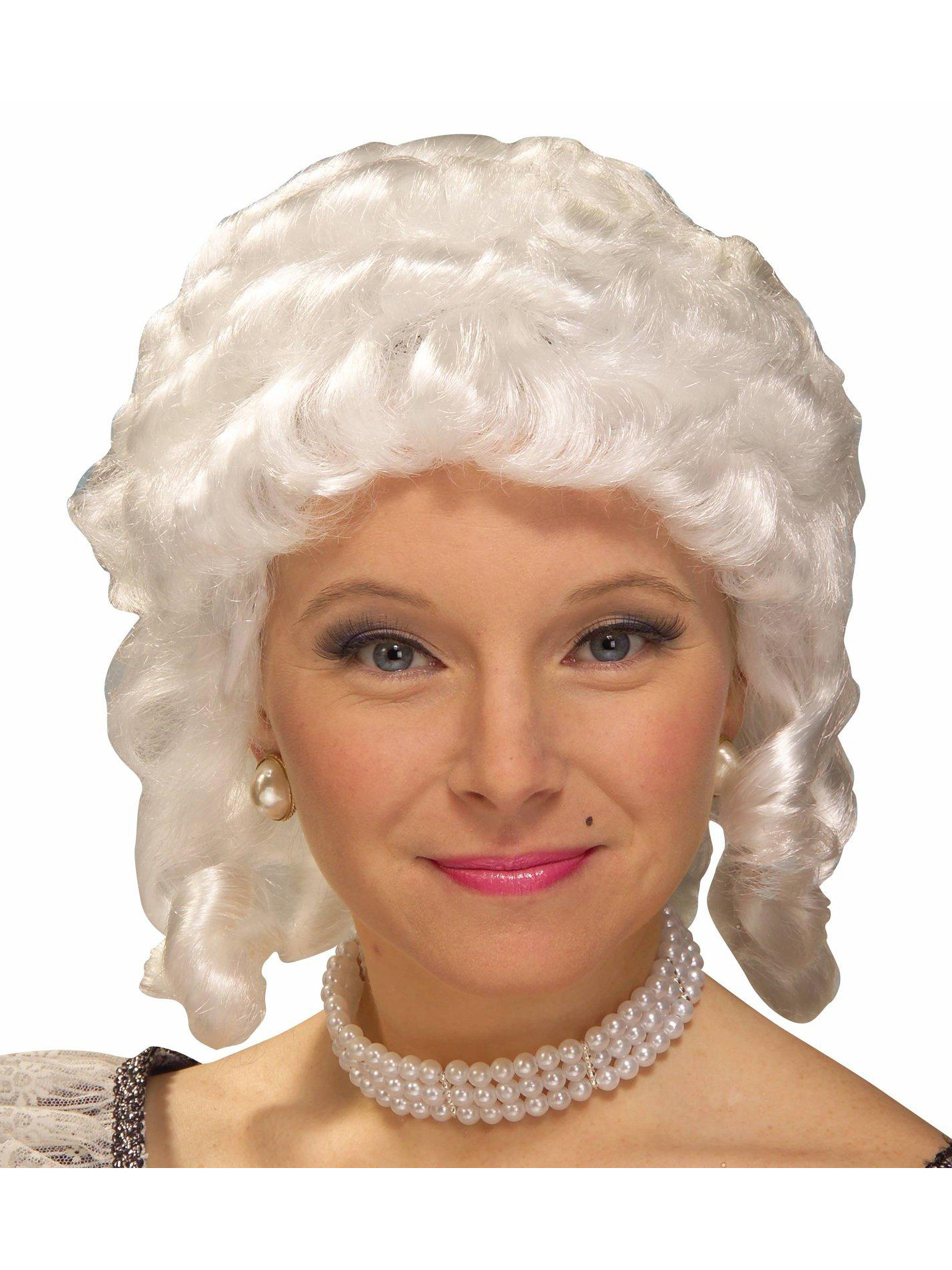Women's Colonial Adult Wig (White)