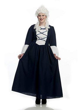 Womens Colonial Lady Curvy Costume