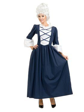 Womens Colonial / Pilgrim Lady Costume  sc 1 st  Wholesale Halloween Costumes & Adult Colonial Woman Costume - Historical Womens Costumes