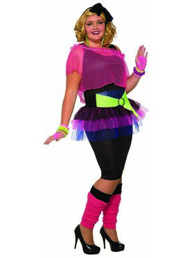Curvy 80'S Girl Womens Costume