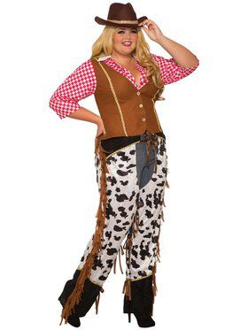 Womens Curvy Cowgirl Rancher Costume
