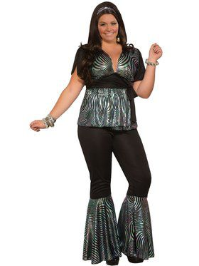 Curvy Disco Dancer Womens Costume