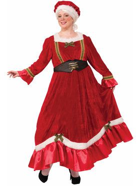 Womens Curvy Mrs. Claus Traditional Dress