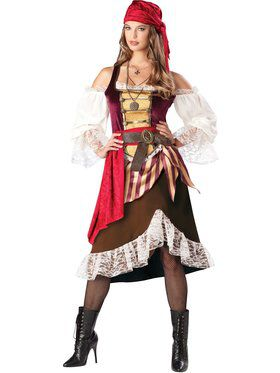 Womens Deckhand Darlin Pirate Costume