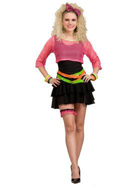 Womens Deluxe 80's Groupie Costume