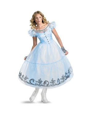 Womens Deluxe Alice In Wonderland Movie Alice Costume
