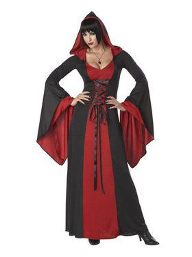 Womens Deluxe Hooded Gown Costume