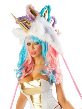 Women's Deluxe Josie Loves J Valentine Unicorn Costume Hood