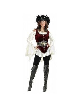 Womens Deluxe Pirate Lady Costume