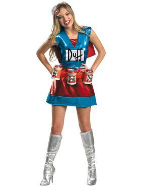 Womens Deluxe The Simpsons Duffwoman Costume